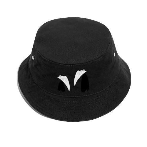 Raving Ravens - black and white 1 - Bucket Hat