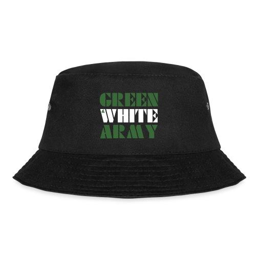 GREEN & WHITE ARMY _STENCIL_3 - Bucket Hat