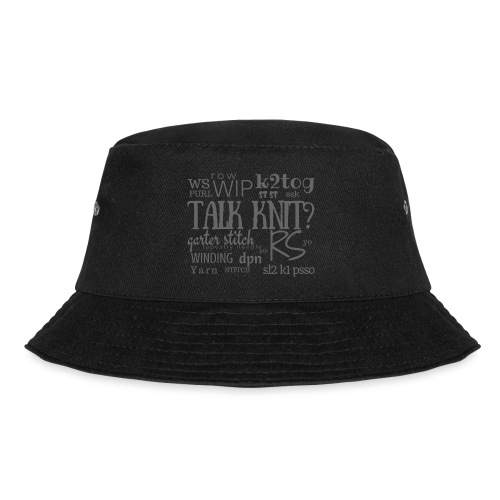 Talk Knit ?, gray - Bucket Hat