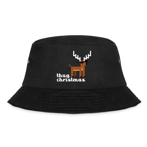 Christmas Xmas Deer Pixel Funny - Bucket Hat