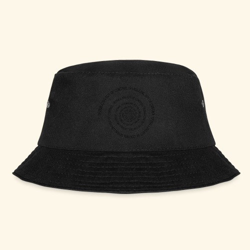 SPIRAL TEXT LOGO BLACK IMPRINT - Bucket Hat