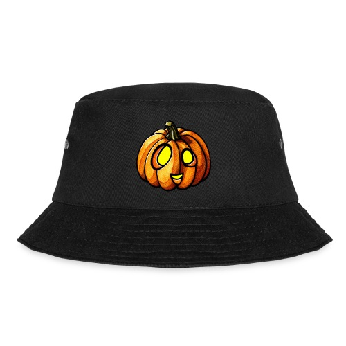 Pumpkin Halloween watercolor scribblesirii - Bucket Hat