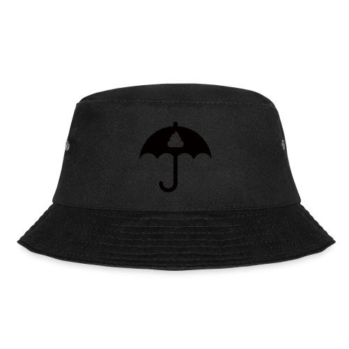 Shit icon Black png - Bucket Hat