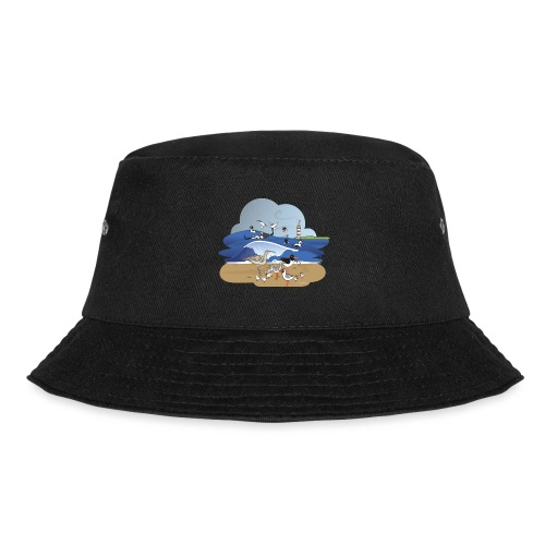 See... birds on the shore - Bucket Hat