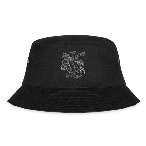 Fantasy white scribblesirii - Bucket Hat