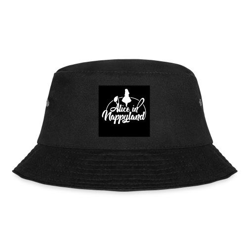 Alice in Nappyland TypographyWhite 1080 - Bucket Hat