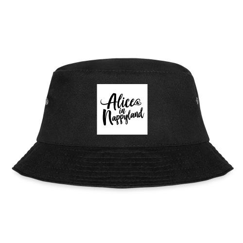 Alice in Nappyland Typography Black 1080 1 - Bucket Hat