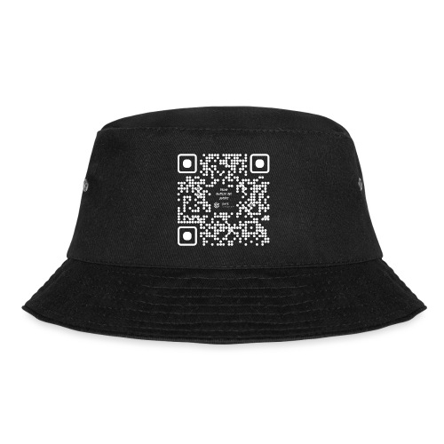 QR The New Internet Should not Be Blockchain Based W - Bucket Hat