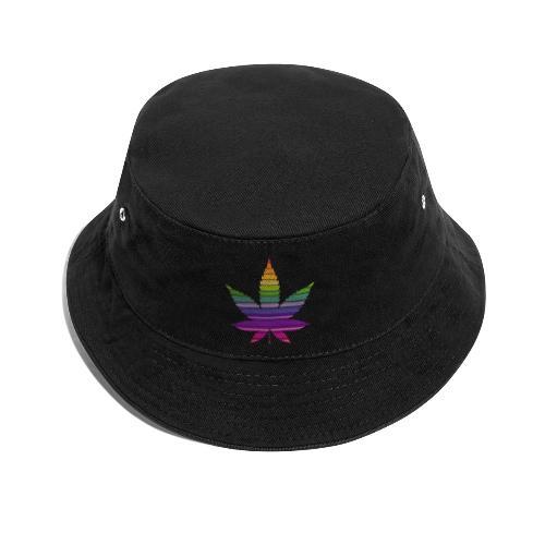 Weedblatt Design mit farbenfrohem Hintergrund - Fischerhut