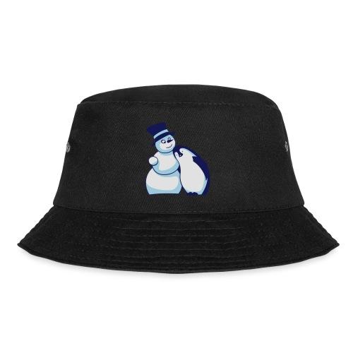Schneemann und Pinguin - Fischerhut
