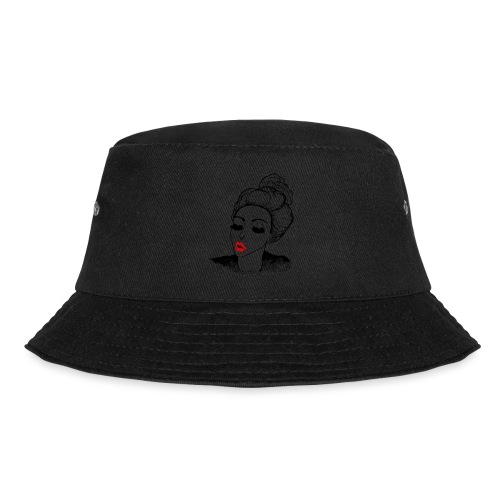 Vintage Retro Girl Kiss message - Bucket Hat
