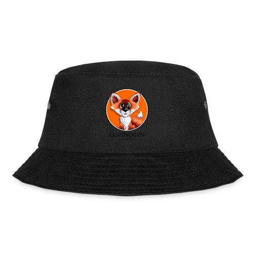 llwynogyn - a little red fox (black) - Bucket Hat