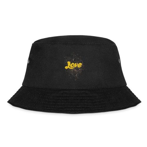 Scritta Love con decorazione - Cappello alla pescatora