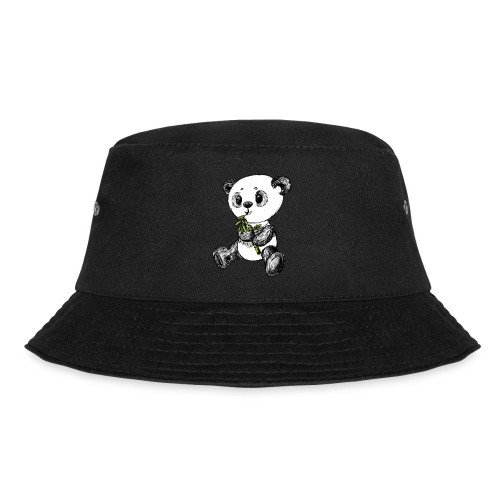 Panda bear colored scribblesirii - Bucket Hat