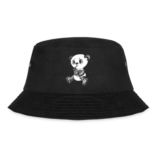 Panda bear white scribblesirii - Bucket Hat