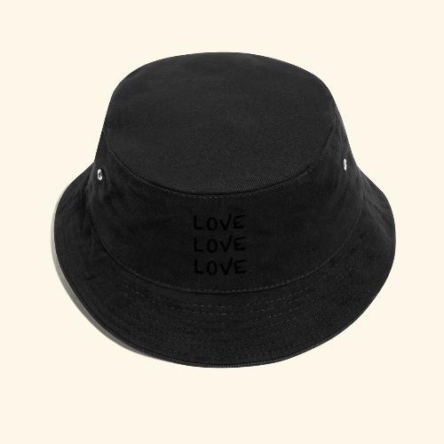 LOVE Black 001 - Fischerhut