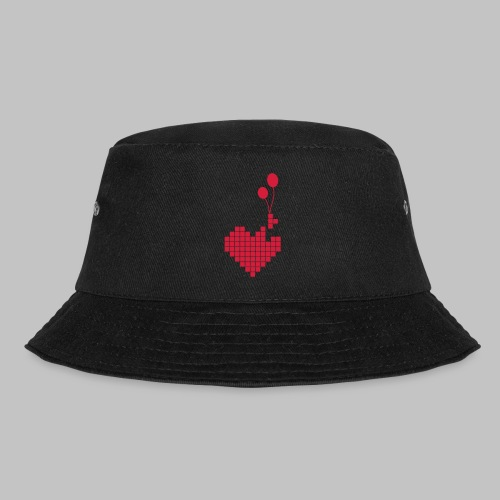 heart and balloons - Bucket Hat
