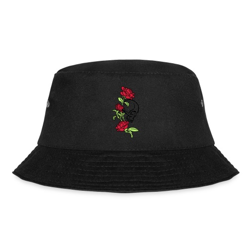 teschio e rose es123_2 - Cappello alla pescatora