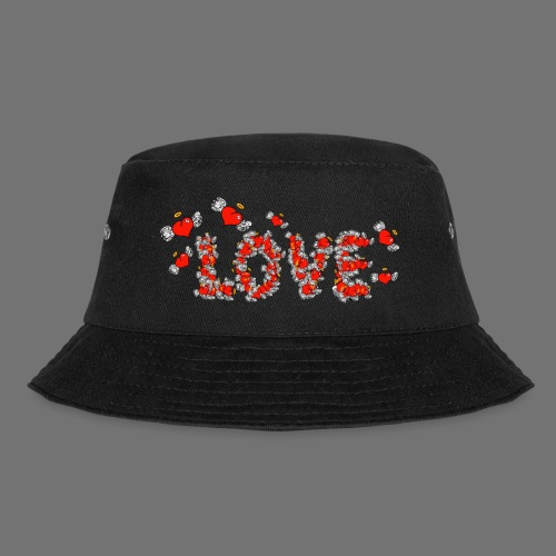 Flying Hearts LOVE - Bucket Hat