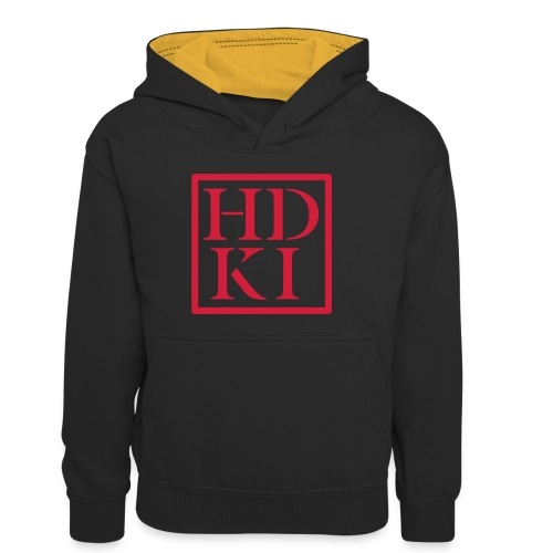 HDKI logo - Kids' Contrast Hoodie