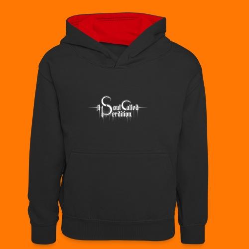 A Soul Called Perdition T-Shirt Logo / Emblem - Kids' Contrast Hoodie