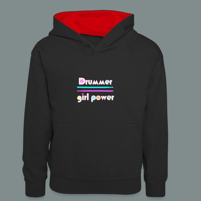 Drummer girlpower rose - idee cadeau batteur