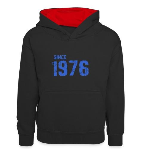 Since 1976 - Teenager contrast-hoodie/kinderen contrast-hoodie