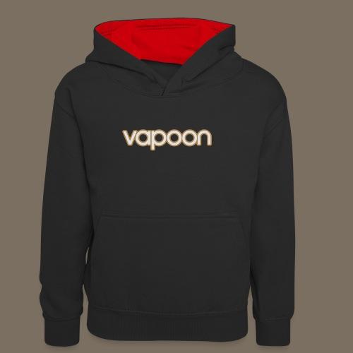 Vapoon Logo simpel 2 Farb - Kinder Kontrast-Hoodie