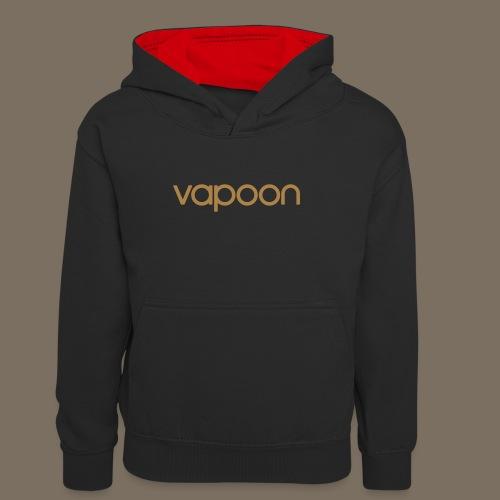 Vapoon Logo simpel 01 - Kinder Kontrast-Hoodie