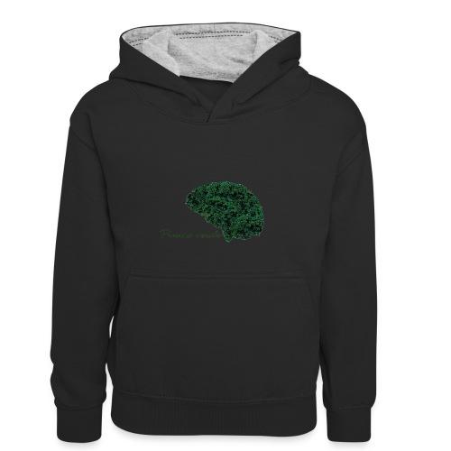 Piensa verde - Sudadera con capucha para niños