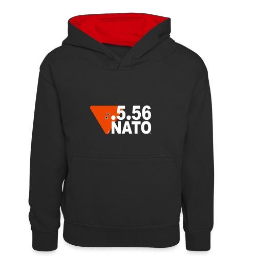 .5.56 NATO BLANC - Sweat à capuche contrasté Enfant