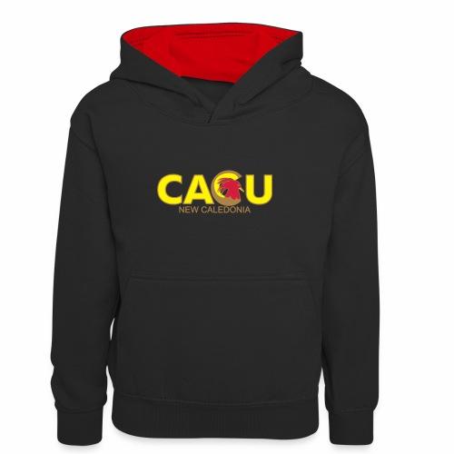 Cagu New Caldeonia - Sweat à capuche contrasté Enfant