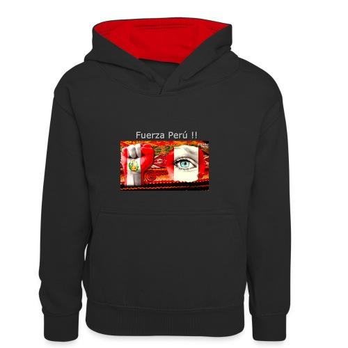 Telar Fuerza Peru I - Kids' Contrast Hoodie