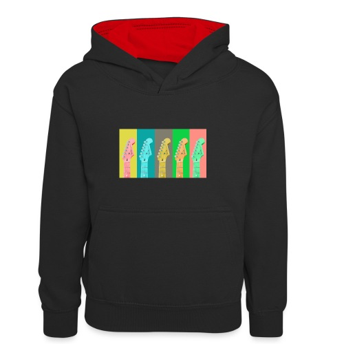 Colorful Guitar Gathering by #OneCreativeArts - Kinder Kontrast-Hoodie