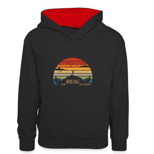 lustige Wanderer Sprüche Shirt Geschenk Retro - Kinder Kontrast-Hoodie