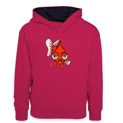 Angry Fish - Sweat à capuche contrasté Enfant