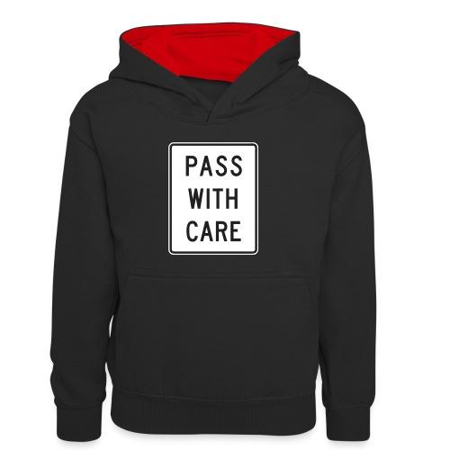 Voorzichtig passeren - Teenager contrast-hoodie/kinderen contrast-hoodie