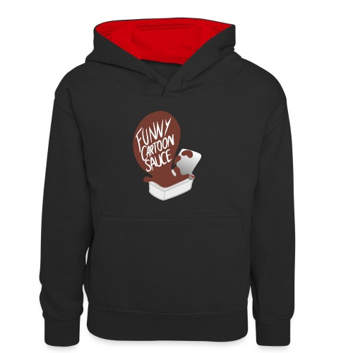 FUNNY CARTOON SAUCE - FEMALE - Kids' Contrast Hoodie