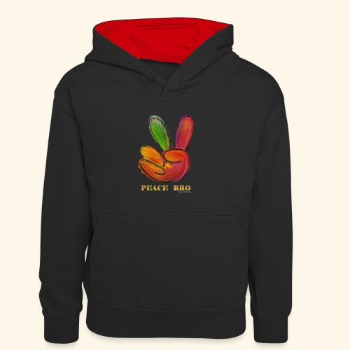 PEACE BRO - Teenager contrast-hoodie/kinderen contrast-hoodie