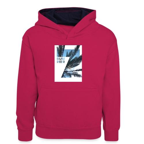 Summertime - Teenager contrast-hoodie/kinderen contrast-hoodie