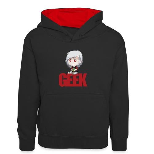Chibi Geek - Sweat à capuche contrasté Enfant