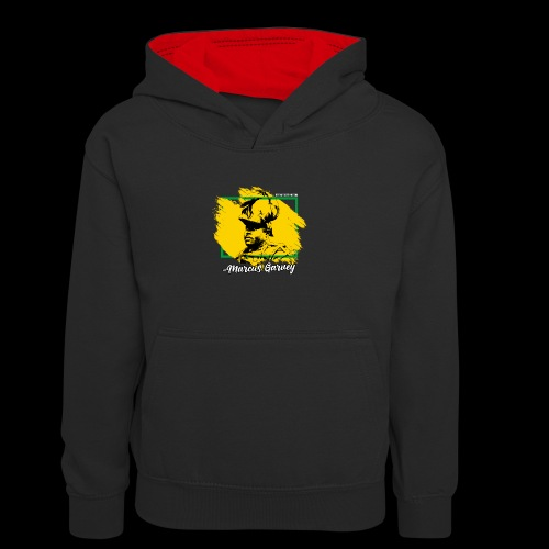 MARCUS GARVEY by Reggae-Clothing.com - Kinder Kontrast-Hoodie