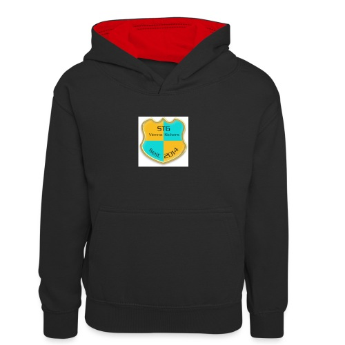 STG Vienna Kickers Logo - Kinder Kontrast-Hoodie