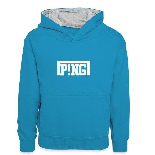 ping2 - Teenager contrast-hoodie/kinderen contrast-hoodie