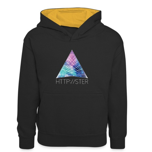 HTTPSTER - Teenager contrast-hoodie/kinderen contrast-hoodie