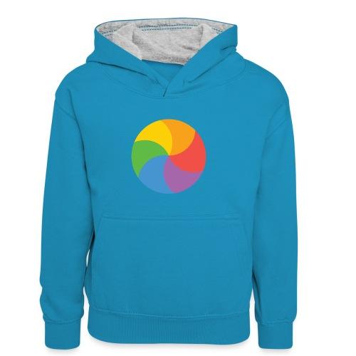 BeachBal - Teenager contrast-hoodie/kinderen contrast-hoodie