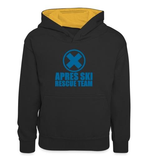 apres-ski rescue team - Teenager contrast-hoodie/kinderen contrast-hoodie
