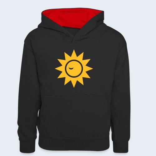 Winky Sun - Teenager contrast-hoodie/kinderen contrast-hoodie