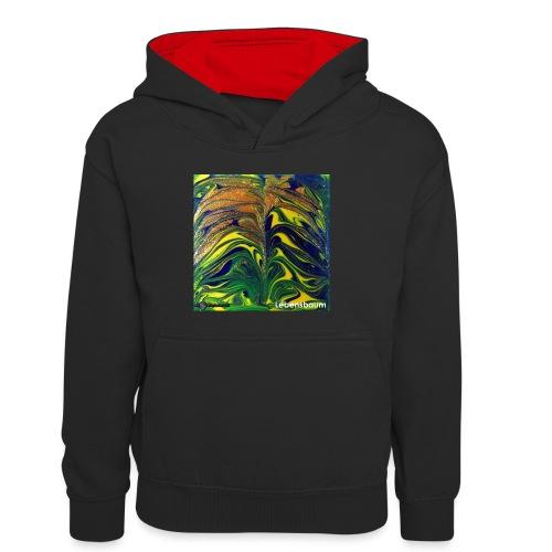 TIAN GREEN Mosaik DE029 - Lebensbaum - Kinder Kontrast-Hoodie