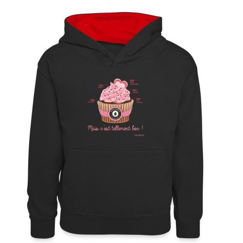 cupcake rose 2 - Sweat à capuche contrasté Enfant